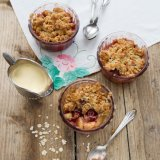 Cherry Apple Crumble with Marzipan