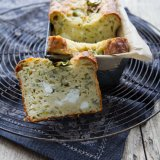 Feta cake with Courgette and Mint
