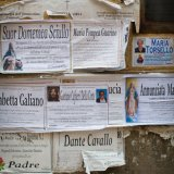Death notes on walls in Francavilla Fontana