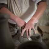 Old style pottery making in Francavilla Fontana