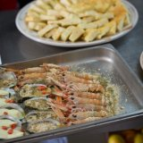 Food prep for a wedding buffet at Tenuta Moreno