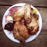 Thai spiced fried chicken from Yum Jungle at Street Feast