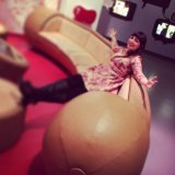 Wurst sofa at Currywurst Museum