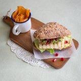 Halloumi Burger with Pomegranate Guacamole