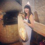 Learning how to make pide at Fatih Karadeniz Pidecisi