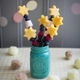 Sandwich snake and fruits star wands
