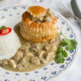 Thai green curry vol-au-vents