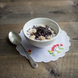 Cherry almond yoghurt bowl