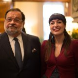 With Ambassador Jean-Louis Wolzfeld Anne's Kitchen book presentation Luxembourg embassy washington DC