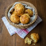 Cheese and salami muffins