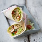 Satay Chicken Wrap
