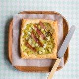 Leek and Roquefort tarts