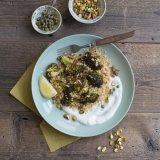 Quinoa Broccoli salad with pistachios