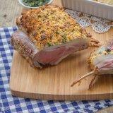 Feta-crusted rack of lamb