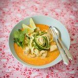 Thai chicken curry with courgette noodles