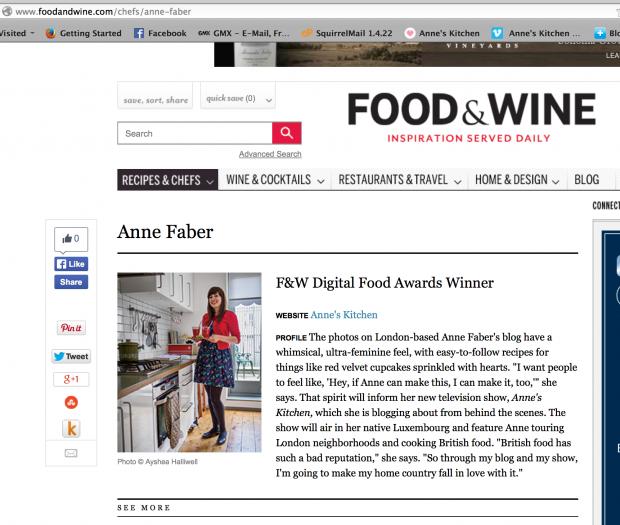 Food + Wine Website