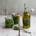 Wild garlic pesto and oil