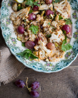 Roasted Cauliflower and Grape Salad