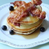 Blueberry Pancakes with Bacon