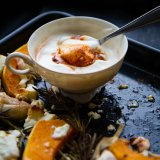 Butternut Squash with Feta and Harissa Creme Fraiche