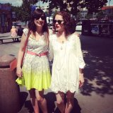 With my buddy Katja of Elli Popp Wallpapers