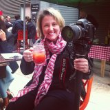 Camera woman Emma enjoying a Bloody Mary