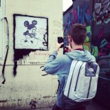Nathan found a Banksy graffiti!