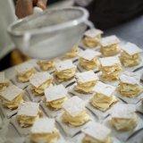 Cake prep for a wedding buffet at Tenuta Moreno