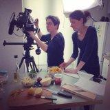 Ayshea and Emma shooting ingredients
