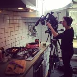 Shooting some Luxembourgish sausages on the hob...