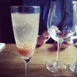 Delicious Rhubarb Vanilla Bellini at Oliver and The Black Circus
