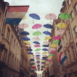 Colourful art installation in Luxembourg City