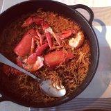 Fideua at Mar Salada (poor lobster!)