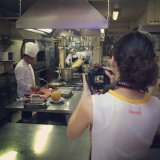 In the kitchen at Asitane