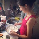 Ayshea making manti dough