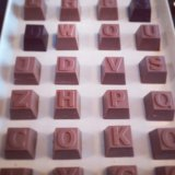 Typography chocolate at Type Hype