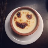 Smiling rice pudding at Fatih Karadeniz Pidecisi