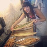 Learning how to make pide at Fatih Karadeniz Pidecisi
