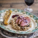 Duck Breast with wild mushroom risotto