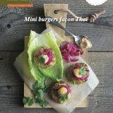 Mini burgers façon thai