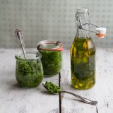 Wild garlic pesto and oil