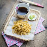 Japanese soba noodles with smoky dipping sauce