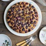 Cherry pistachio cake