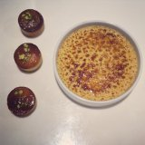 Financiers and vanilla tonka bean creme brulee - Ducasse
