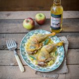 Roast cider chicken with apple sauce