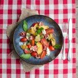 Italian Peach Panzanella