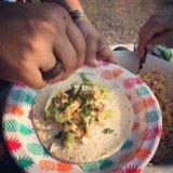 Sweetcorn tacos!
