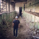 Walking through the abandoned industrial site in Düdelange