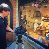 Tim shooting some dolls...
