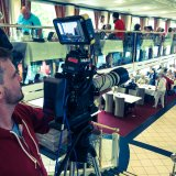Filming on board of the Princess Marie-Astrid